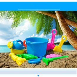 Wholesale Quality Spade - Wholesale- Best seller high quality 10Pcs Sand Sandbeach Kids Beach Toys Castle Bucket Spade Shovel Rake Water Tools Swimming toys
