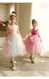 Wholesale Kids Maxi Dresses Wholesale - 2017 Summer Girls Party Dresses Girls Ball Tulle Sleeveless Princess Maxi Dresses Fashion Dance Dress Kids Clothing 71723