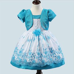 Wholesale Fake Flower Balls - Wholesale- 1pcs sells 2016 Korean fashion Fake 2 piece baby girls dress girl flower baby kids clothes baby christening dress free shipping