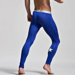 Wholesale Force Lights - New Autumn Light Men's Long Johns Modal Leggings Low-waisted Sexy Slim Elastic Force Warm Pants