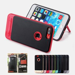 Wholesale Housing For Iphone Green - Hybrid Case Brand For Samsung J7 Prime Cases Luxury Phone Case Cover 2 in 1 Desk Stand Dual Layers Shell For iPhone Housing
