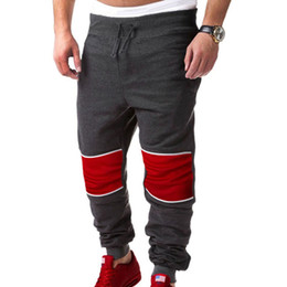 Wholesale Hip Hop Baggy Sweatpants - Men Splices Baggy Jogger Casual Trousers Pants Harem Sweatpants Loose Hip Hop Dance Cool Pants
