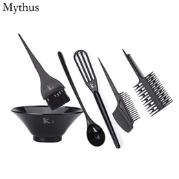 Wholesale Color Hair Dye Set - Professional Hair Coloring Tools Set 6Pcs Set Silicone Hair Color Mixing Bowls Dyeing Mixing Bowl Tinting Brush Hairdressing Tools