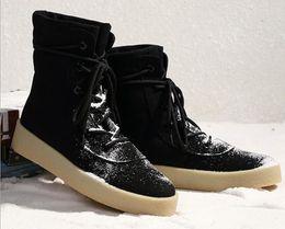 Wholesale Vintage Mens Western - Luxury Brand Vintage Genuine Leather Men Boots Chelsea Kanye West Boots Fashion Sexy Platform Botas Mens Martin Shoes