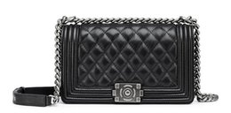 Wholesale Sheepskin Handbags - Star with ms ling lattice chains handbags leather shoulder bag sheepskin shoulder strap bag free shipping
