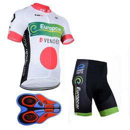 Wholesale Short Europcar - 2017 Summer man Europcar team cycling jersey (bib)shorts sets Ropa de Ciclismo 9D GEL Pad  Breathable Quick-Dry Bicycle Sportwear A140