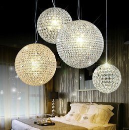 Wholesale Round Ball Crystal Chandeliers - new Crystal Round ball Chandeliers LED lighting Indoor Lighting Ceiling Lights Pendant lamp free shipping MYY