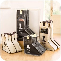 Wholesale Cabin Bags Wholesale - New Arrival Portable Big Shoes Storage Bags Hanging Closet Cabin Shoe Cover Boots Organizer Sack Storaging Bag With Zipper Boot Protector
