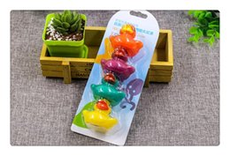 Wholesale Pvc Bath - 4Colors Cute PVC Duck Baby Bath Water Toys Sounds Rubber Ducks Kids Bathing Swiming Beach Gifts Sand Play Water Fun Kids Toys
