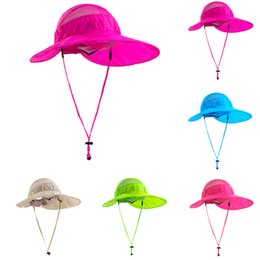 Wholesale Sunscreen Uv Protection Caps - Wholesale- New Fishing Hiking Summer Hat Cap Sunscreen UV protection 5 Colors Available Sun Shelter