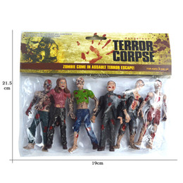 Wholesale Children Gold Set - Action Figures 6pcs set The Walking Dead Zombies Terror Corpse PVC Action Figure Collectible Model Toy 10Cm Christmas Gift for children
