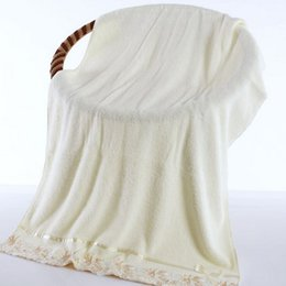 Wholesale Embroidery Hand Towel - (3 piece) Towel, face cloth,bath towel three sets cotton lace embroidery and genuine thickened water lovers face cloth