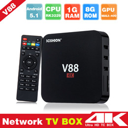 Wholesale Mini Pc 8gb - V88 Android TV Box Rockchip RK3229 1GB 8GB Smart Boxes 4K Quad core 16.1version Full Loaded support 3D Free Movies Online Mini PC 0803093