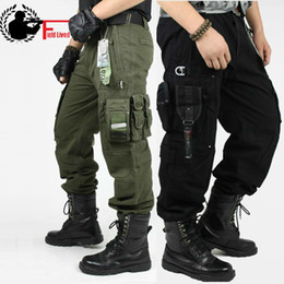 Wholesale Pants Knee Pads - CARGO PANTS Overalls Men's Millitary Clothing TACTICAL PANTS MILITARY Knee Pad Male US Combat Camouflage Army Style Camo Trouser