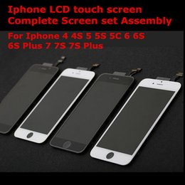 Wholesale Iphone 4s Lcd Digitizer Original - Original Iphone LCD Display touch screen Digitizer Complete Screen set Assembly Replacement for iPhone 4 4S 5 5S 5C 6 6S 6S Plus 7 7S 7 Plus