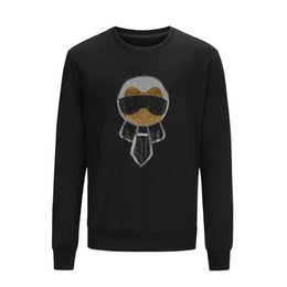 Wholesale Clothes Man Hoodies - Fashion Men Hoodie Set auger cartoon characters Sweatshirt Men Autumn Mens Hoodies And Sweatshirts O-Nekc Casual Brand-Clothing