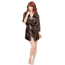 abiti da sera del club notturno Sconti Hot Sexy Pigiama Donna Satin Pizzo Accappatoio Babydoll Sleepwear Lingerie Kimono Dressing Camicia da notte G-string Intimo