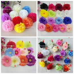 Wholesale Wholesale Silk Carnations Heads - 0 6yy Multi Color Small Tea Rose DIY Artificial Silk Flowers Head For Room Background Wall Carnations Manual Flowers Heads Creative