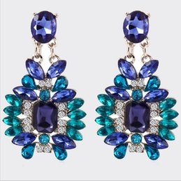 Wholesale Good Crystal Chandelier - F&U 2017 New arrival Hot Earring Jewelry good quality Crystal Multicolor Special Bohemia Dangle Earrings for Women