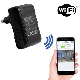 Wholesale Pc Internet Camera - 1080P HD WiFi Internet Streaming AC Adapter Hidden Camera Nanny Cam for iPhone iOS and Android Compatible Pc Mac Internet Monitor