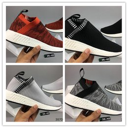 Wholesale Pictures Grey - Real picture hot-sell MAN womens sports SHOES pink NMD CS2 City Sock PK high quality Running Shoes nmd R2 shoes 2018 drop shipping 36-45
