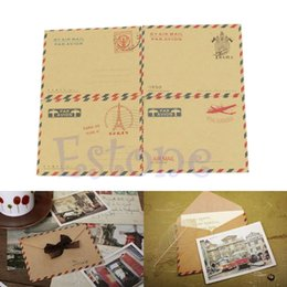 Wholesale Vintage Letter Paper Envelopes - Wholesale- 10 Pcs Vintage Mini Envelopes for Postcard Letter Paper Stationery Storage Paper