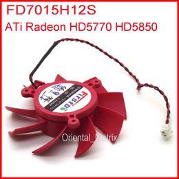 Wholesale Radeon Graphics Card - Wholesale- Firstdo FD7015H12S DC BRUSHLESS FAN 12V 0.43A 65mm 39x39x39mm For ATI Radeon HD5770 HD5850 HD5830 Graphics Video Card Fan 2Pin