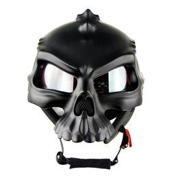 Wholesale Half Helmet Goggles - Motorcycle Helmet Half Face ABS Goggles 6 colors Fashion Skull head Helmets Motocross Half Helmets cascos para moto