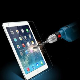Wholesale Ipad Piece - 9H Explosion Proof Transparent Tempered Glass Screen Protector fit for iPad 2& 3 & 4& 5& 6& Air 1 2& mini Free Shipping