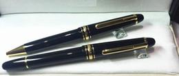 Wholesale Flower Office - P 149 Meisterstuck Ballpoint Pen Resin Black Golden Fat Big Business Pen Office Pen Office Supply White Flower On Top