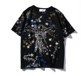 Wholesale Universe Big - summer New 2017 printed loose cotton all over the sky star universe big yards short sleeve T-shirt