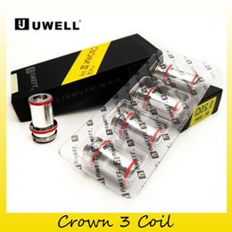 Wholesale Head Crowns - Original Uwell Crown 3 Coil Head 0.25 0.5ohm Replacement SUS316 Parallel Coils Fit Uwell Crown III Atomizer Tank 100% genuine 2231011