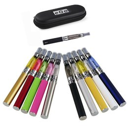 Wholesale Electronic Cigarette Battery Large - Double CE4 ego Starter Kits CE4 Electronic Cigarette kits E-cig Colorful EGO-T 1100mah Large Battery Zipper Case Clearomizer E-cigarettes