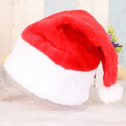Wholesale Girls Santa Hat - Children Kids Adults Christmas Cap Cute Boy Girl for XMas Party Hats Soft Plush Santa Claus Merry Christmas Holiday Hat Gifts Decoration Day