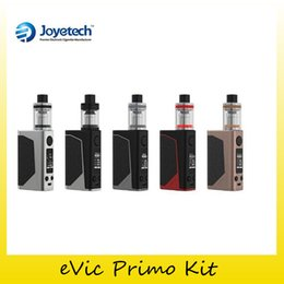 Wholesale Joyetech Evic E - Authentic Joyetech eVic Primo 200W TC Starter Kit with UNIMAX 25 Atomizer Tank E-liquid Filling with BFXL Kth-0.5ohm DL Genuine 2220070