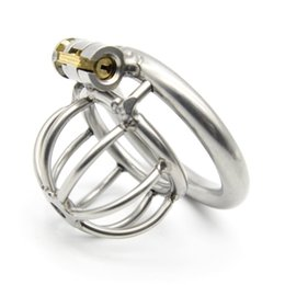 Wholesale Male Chastity Gear - Chastity Cage Tubes Anti off Ring Bondage Gear Male Chastity BDSM Stainless Steel Chastity Device Cock Cage Penis Plug Urethral Sound G202