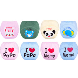 Wholesale Infant Nappy Liners - 0-36M Baby Training Pants Cloth Washable Reusable Baby Diapers Infants Nappies Baby Diapers Reusable Nappies Cloth Nappy