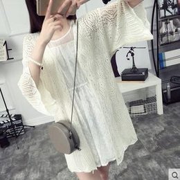 Wholesale Womens Sweater Shawl - Wholesale-Thin knit cardigan sweater thin coat spring women long hollow air-conditioned shirt shawl summer womens knit cardigan