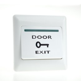 Wholesale Exit Push Button Access Control - Wholesale- Free shipping Hot sale! exit push button press button switch with back-light for access control system