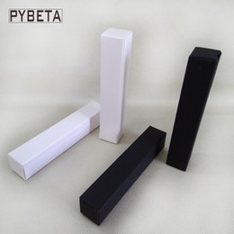 Wholesale Wholesale Paper Tubes - 100pcs lot- 2*2*12cm White Black Paper Box for Essential Oil Perfume sample Lipstick Stroage Boxes Craft Gift boxes valve tubes