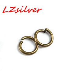 Wholesale Jumps Ring Open Connector - MIC 500pcs Jewelery Connectors Jump Ring Open Connector 7x4mm Antiqued Bronze DIY Jewelry
