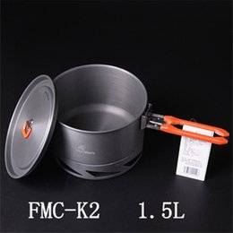 Wholesale Hard Anodizing - New Arrives Fire Maple Heat Exchanger Camping Pot 1.5L Hard Anodizing Aluminum Outdoor Cooking Cookware 338g Feast K2
