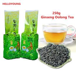 chá emagrecimento china Desconto Vendas quentes C-WL046 Promoção! 250g Famosos Cuidados de Saúde Taiwan Ginseng Oolong Chá, Chinês Ginseng Chá, Chá Wulong