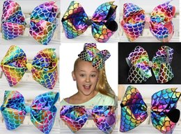 "Wholesale Hair Drop Shipping - DROP SHIPPING 12 COLORS Mermaid Bow 8"" Dance Moms Cheer Big Hair Clip Bows Jojo Boutique Girls hair bow HOT SALE .SALE .20PCS"