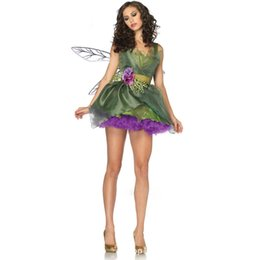 Wholesale Green Elf Costume - Europe and the United States animation forest green elf Halloween costumes sexy uniforms set Queen sexy Halloween costume