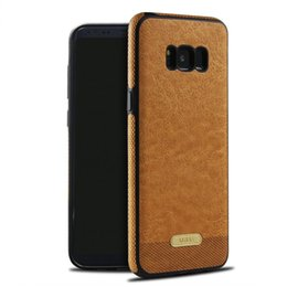 Wholesale Stitch Phone Cases - For Samsung Galaxy S8 New Leather Stitching Case Business Pattern Soft TPU Phone Case Cover for Samsung S7 edge S8 plus S6