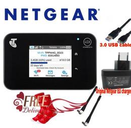 "Wholesale Wireless Hotspot - Unlocked 2.4""touchscreen Netgear Aircard AC810S(plus 2pcs antenna) Cat11 600Mbps 4GX Advanced III 4G LTE MiFi Mobile Hotspot"