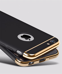 Wholesale Iphone Rubberized Hard Cases - For iPhone X 8 7 Plus gold hard pc case Removable 3 in 1 newest Rubberized matt Fundas Back Case cover for iPhone 6 6S