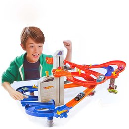 Wholesale Hot Wheels Tracks - Wholesale- Christmas toy gift recommendation model super plastic hot wheels boy track electric toy gifts for the children