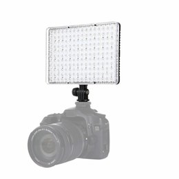 Wholesale Flash Photo Video - PULUZ 176 LEDs Video Lamp Photo Studio DSLR Camera Light Dimmable Photo Flash Light with 2 Filter Plates for Canon Nikon